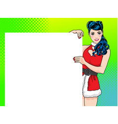 woman showing a product vector image