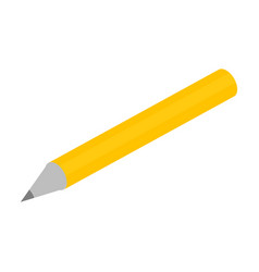 yellow office pencil icon isometric style vector image