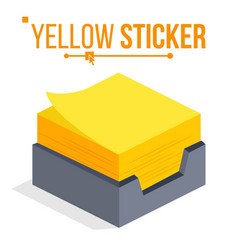 yellow sticker office stickers for notes vector image