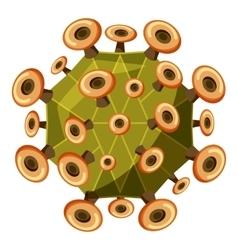 Zika virus icon isometric 3d style vector image