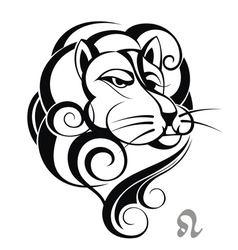 zodiac signs of leo vector image
