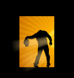 Zombie without head vector