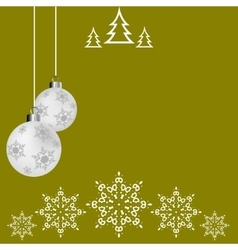 Christmas ball postcard Christmas Greeting card vector image vector image