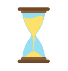 hourglass icon time sand hour clock glass design vector image vector image