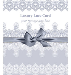 luxury lace background with handmade vector image