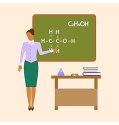School Chemistry female teacher vector image vector image