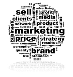 Marketing word cloud vector image vector image