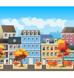Old town in autumn vector image vector image