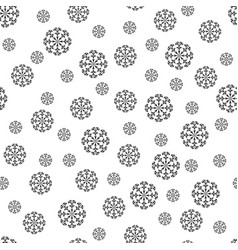 snowflake chaotic seamless pattern 311 vector image