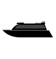 transatlantic cruise liner black color icon vector image vector image