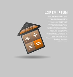Unusual mortgage calculator icon vector image