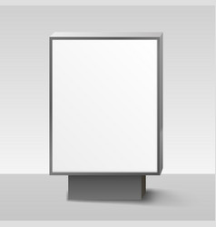 blank lightbox or signboard on white background vector image