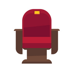Comfortable armchair in cinema isolated on white vector
