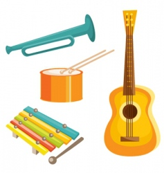 music objects vector image vector image