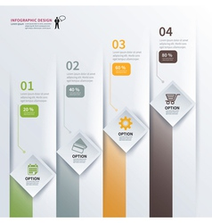 paper square infographic vector image