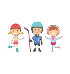 Sport kids vector image