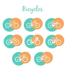 Modern bicycles set vector