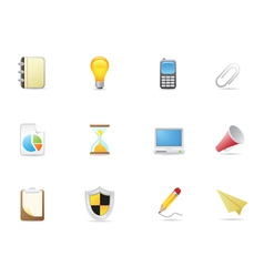 Office Business icons vector image
