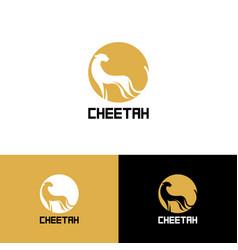 printstylized cheetah logo cheetah vector image vector image