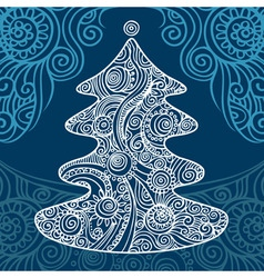 stylish christmas tree vector image vector image