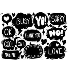 0039 hand drawn background set cute speech vector