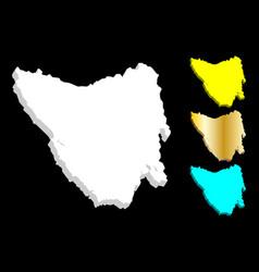 3d map of tasmania vector