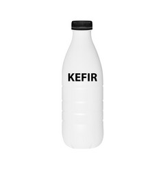 a bottle of kefir in on white background vector image