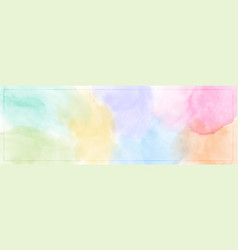 Abstract pastel color watercolor for background vector