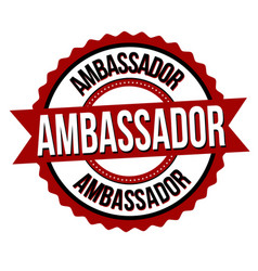 Ambassador label or sticker vector