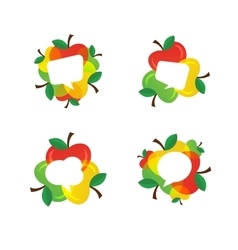 Apples and Healthy Fruit design with speech vector