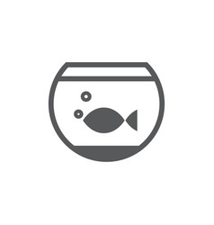 aquarium icon on white background vector image
