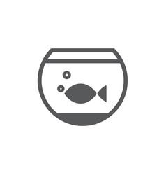 Aquarium icon on white background vector