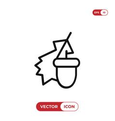 autumn sign icon vector image