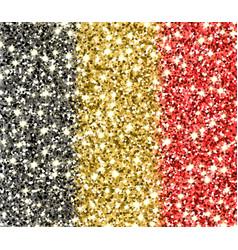 Belgium sparkling flag vector