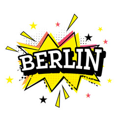 berlin comic text in pop art style vector image