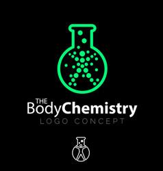 body chemistry symbol concept vector image