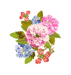 bright floral bouquet vector image