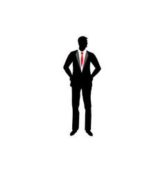 businessman silhouette icon design vector image