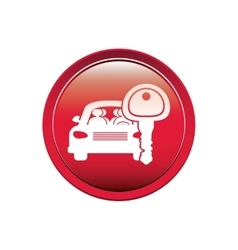 button with car and key vector image