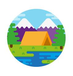 Camping outdoor vector