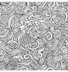 cartoon hand-drawn doodles on the subject vector image