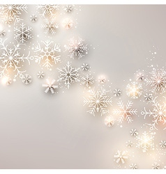 Christmas background with glowing snowflakes vector