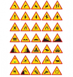 circulation signs vector image