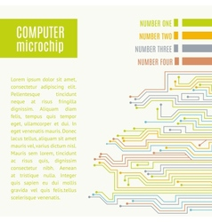 Colorful microchip background vector image