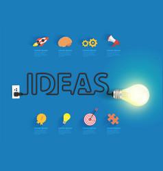 creative light bulb ideas vector image