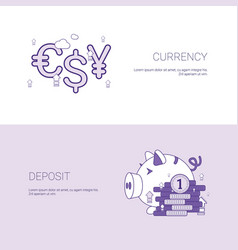 currency and deposit finance concept template web vector image