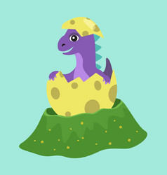 cute badragon hatched from one egg small vector image