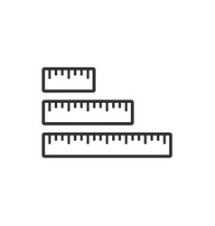 Different length size ruler icon measurement icon vector