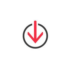 download line icon symbol modern simple vector image