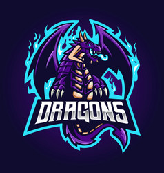Dragon esport logo vector